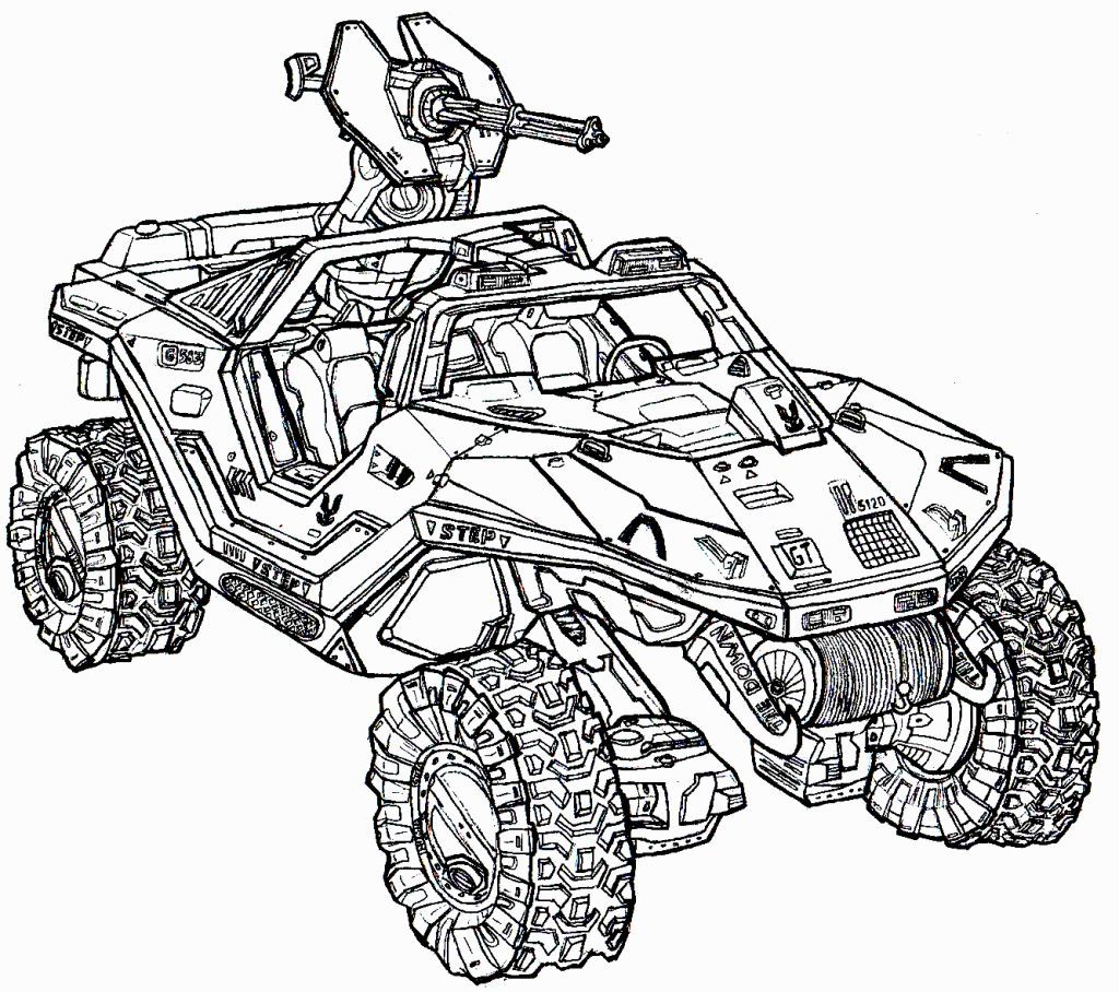 Halo Coloring Pages Drawing Pictures For Colouring Bear
