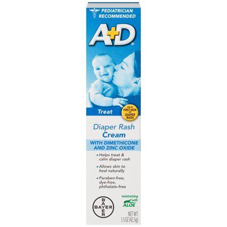 (2 Pack) A+D Zinc Oxide Diaper Rash Treatment Cream, 1.5 Ounce Tube - Walmart.com