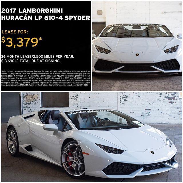 Lamborghini Huracan Lease >> End Of Year Sales Event Lease The 2017 Lamborghini Huracan