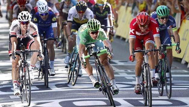 Peter Sagan ajoi voittoon Tour de Francen 16. etapilla.