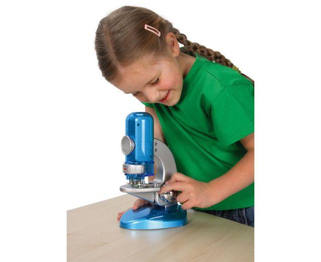 Tolles praktisches monitor mikroskop. das batteriebeleuchtete