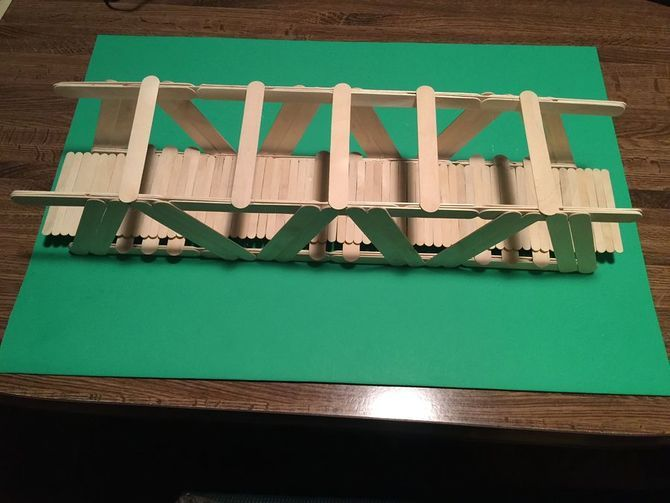 how to build bridge by posickle sticks
