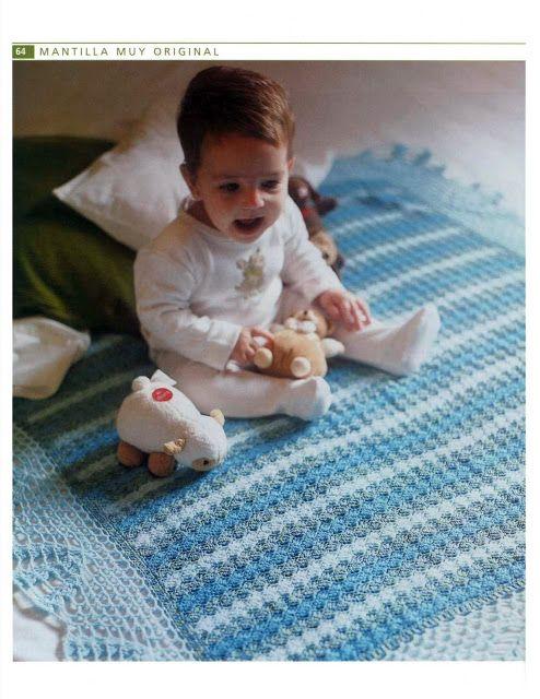 PATRONES GRATIS DE CROCHET: Patrón manta para bebe a crochet ...