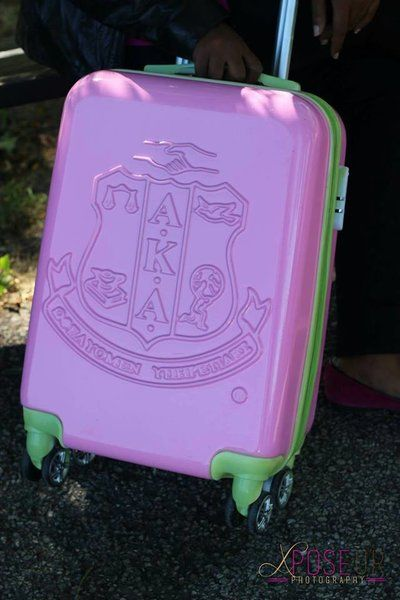 ea674092289 Alpha Kappa Alpha Sorority Carry on Luggage | Alpha Kappa Alpha ...