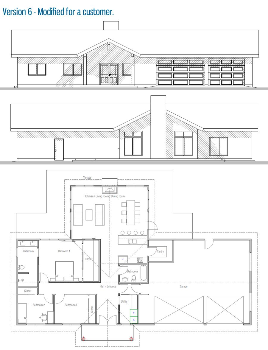 house design house-plan-ch435 50 | Modern floor plans