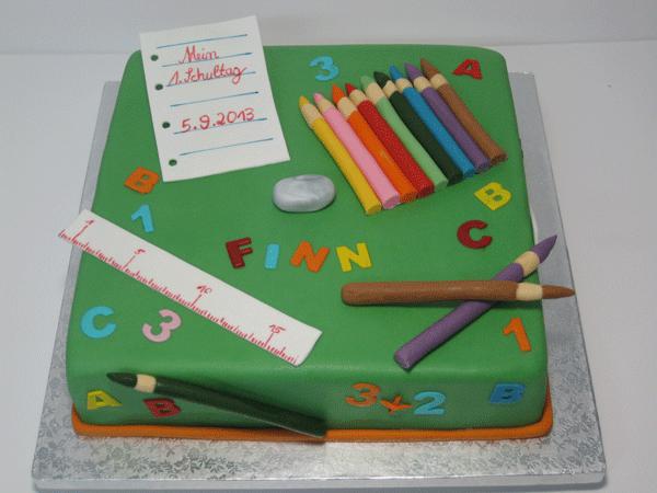 1 Schultag Kuchen Einschulung Torte Einschulung Lehrer Kuchen