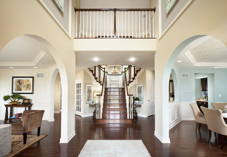 Toll Brothers Perfection... Colors, Flooring, stairs.... just simply ...