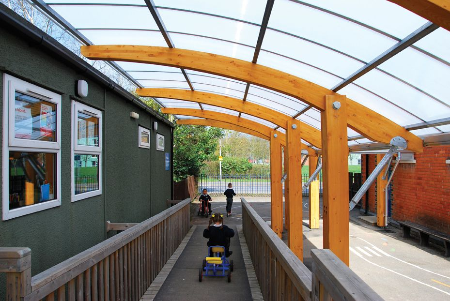 All sizes | Structural timber cantilever canopy for infants school | Flickr - Photo Sharing! & All sizes | Structural timber cantilever canopy for infants school ...