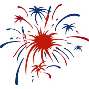 Maercon Hairstyle Fireworks Clipart Free Wedding 4th Of July