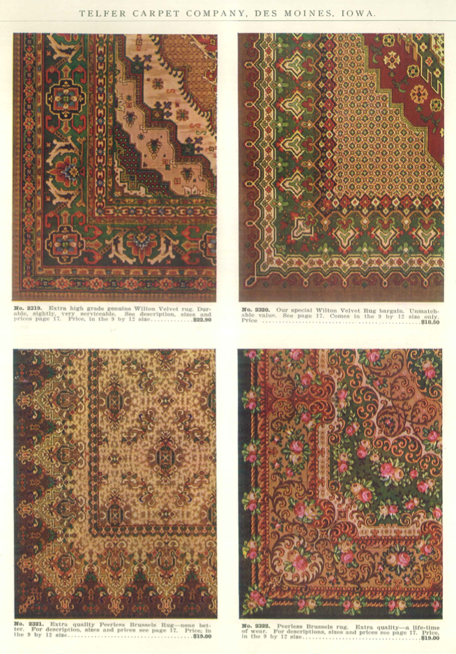 Examples Of Velvet And Brussels Rugs From Quot Telfer S Good