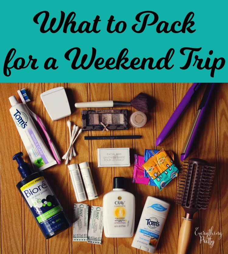 What To Pack For An Overnight Trip