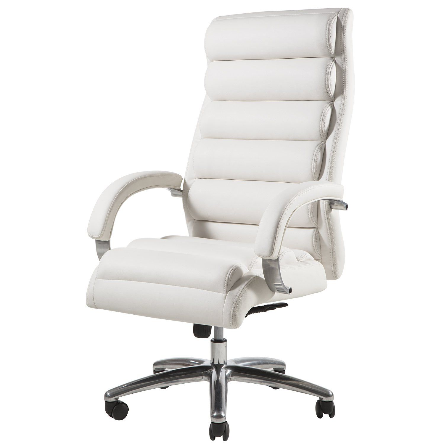 Topsky High Back Big And Tall 400 Lb Thick Padded Soft Seat And Back Executive Pu Pvc Leather Office Chair White Office Chair Leather Office Chair Office Chair Office chairs for big and tall