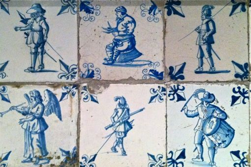 Delft tiles at the New American Wing at the Met in NYC - gorgeous.
