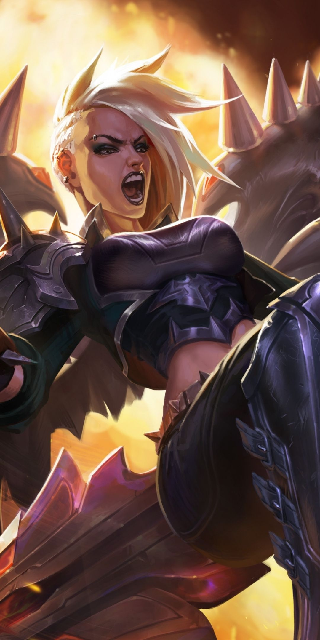 Angry girl, kayle, video game, League of Legends