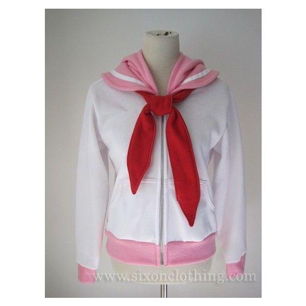 Sailor Chibi Moon Seifuku Hoodie ❤ liked on Polyvore featuring tops, hoodies, hooded pullover, hooded sweatshirt, hoodie top, collar top and sweatshirt hoodies