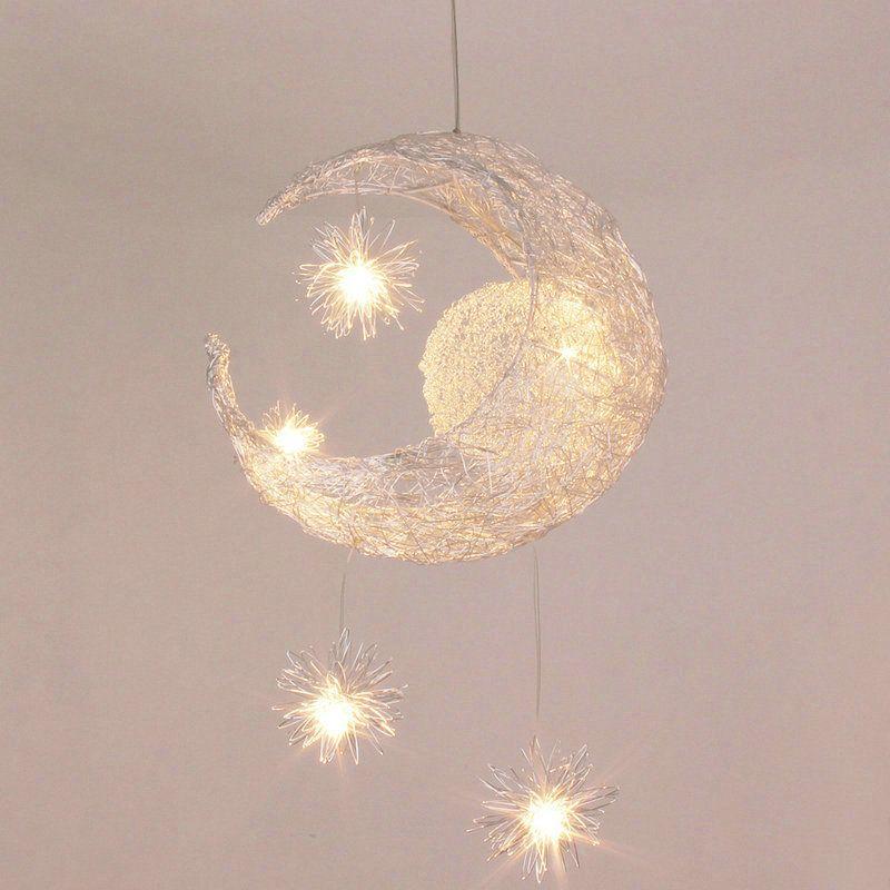 Moon Star Ceiling Light Hanging Lights For Bedroom Kids Room With 5 Lights Star Lights On Ceiling Kids Room Lighting Bedroom Ceiling Light
