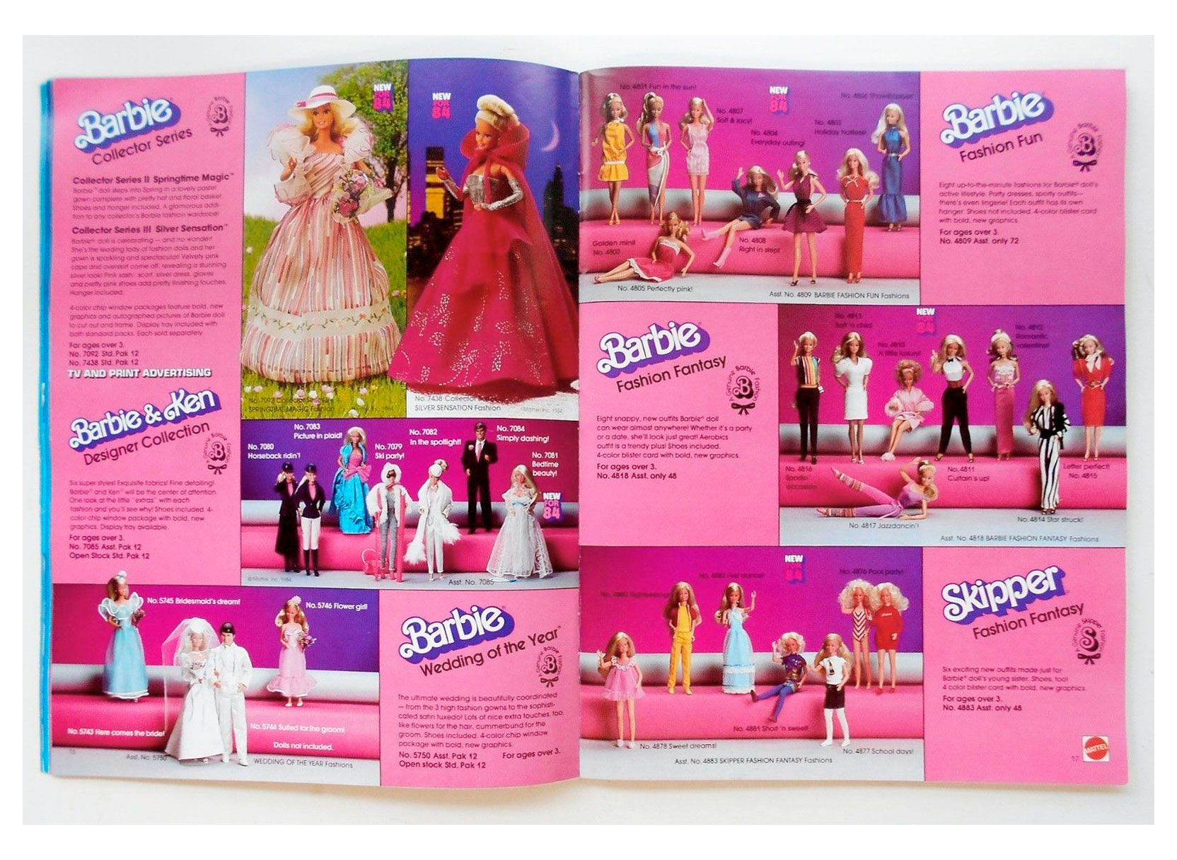Mattel Catalog SuperStar Barbie Era BARBIE & FRIENDS NRFB
