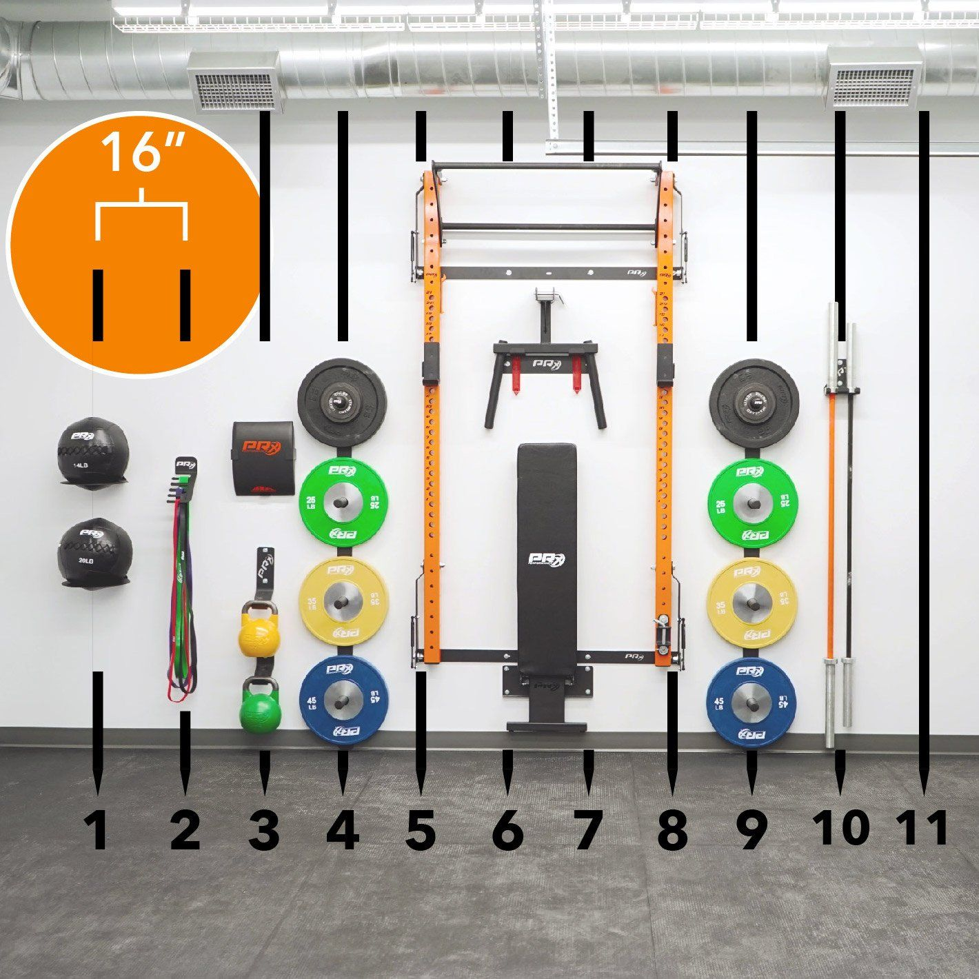 Swole Mates His Hers Profile Pro Elite Package With Folding Bench Folding Bench Wall Balls Ball Storage