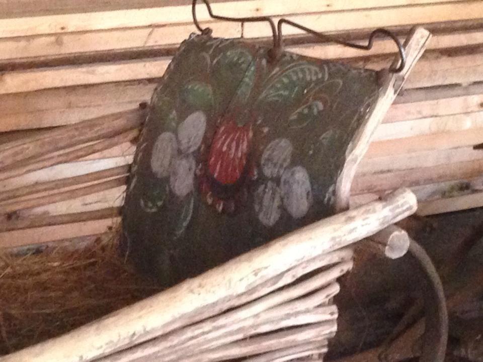 русская роспись саней. Отдел деревянного зодчества Истринского музея