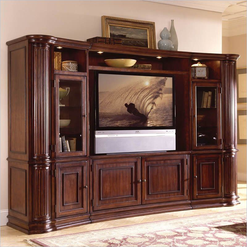 Beautiful 60 Tv Entertainment Center Part - 6: Riverside Furniture Ambiance 60 Inch Pier Cabinet Entertainment Center In  Sangria Cherry