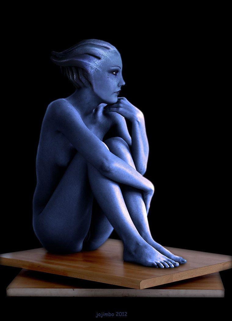 Liara T Soni Sitting By Biosman Mass Effect Romance Mass Effect