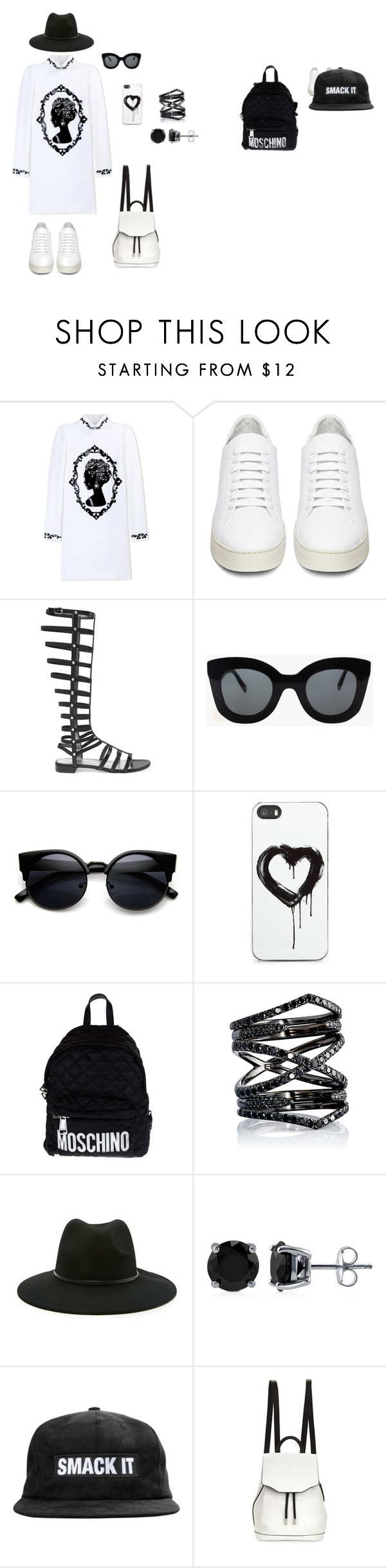 """Black and white"" by helenkraft17 on Polyvore featuring мода, Dolce&Gabbana, Off-White, Stuart Weitzman, CÉLINE, Zero Gravity, Moschino, Eva Fehren, Forever 21 и BERRICLE"
