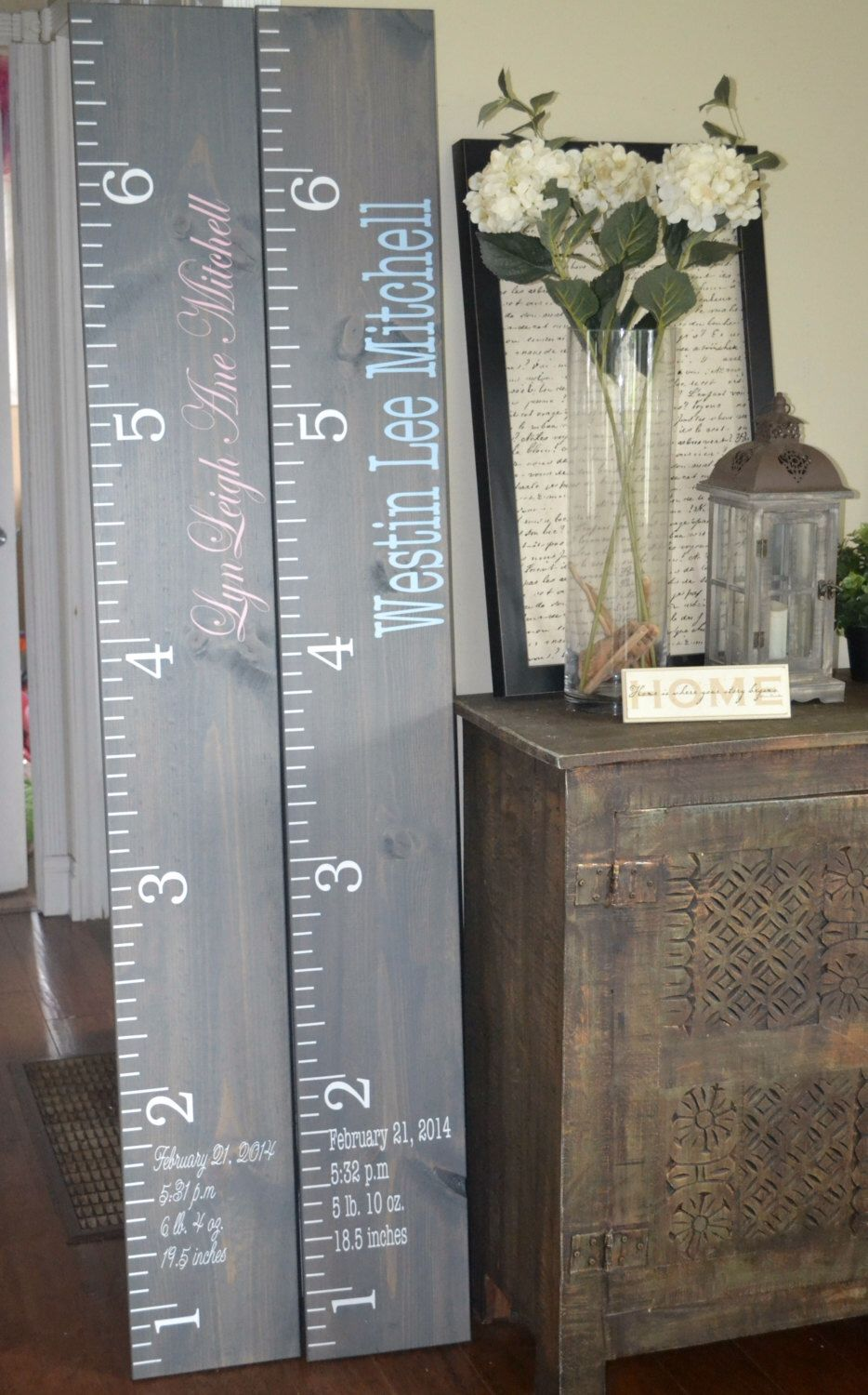 Distressed Wood Growth Chart Growth Chart Ruler Vinyl DecalChild - Ruler growth chart vinyl decal
