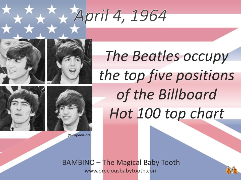 April 4, 1964 The Beatles occupy the top five positions of ...