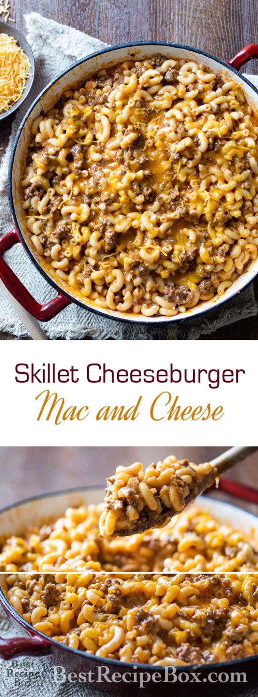 Skillet Cheeseburger Mac and Cheese