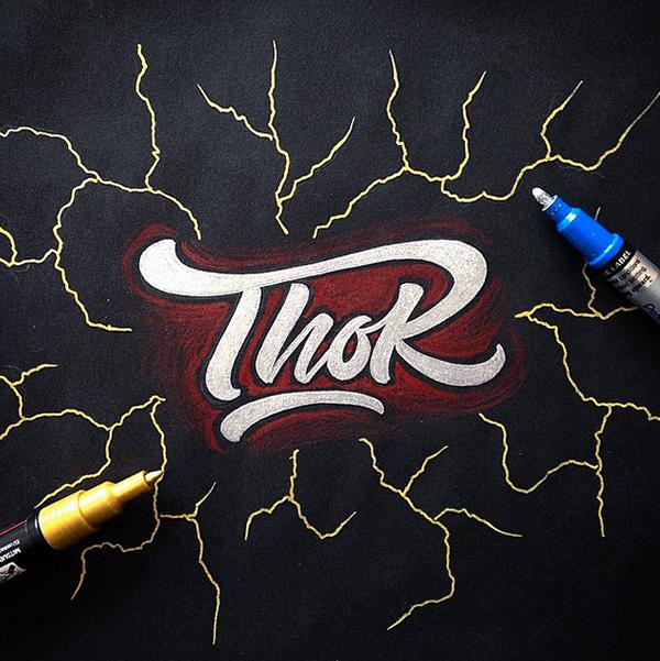 Designer transforma logo de super heróis com lettering