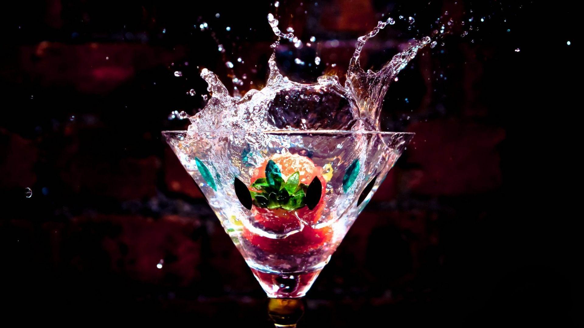 Cocktail Splash 1920×1080 Wallpaper HD Desktop Widescreen
