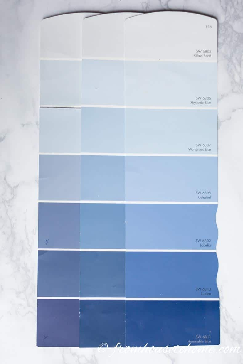 How To Choose The Right Paint Color 7 Steps To Help You Decide Light Blue Paints Light Blue Paint Colors Warm Blue Paint Colors