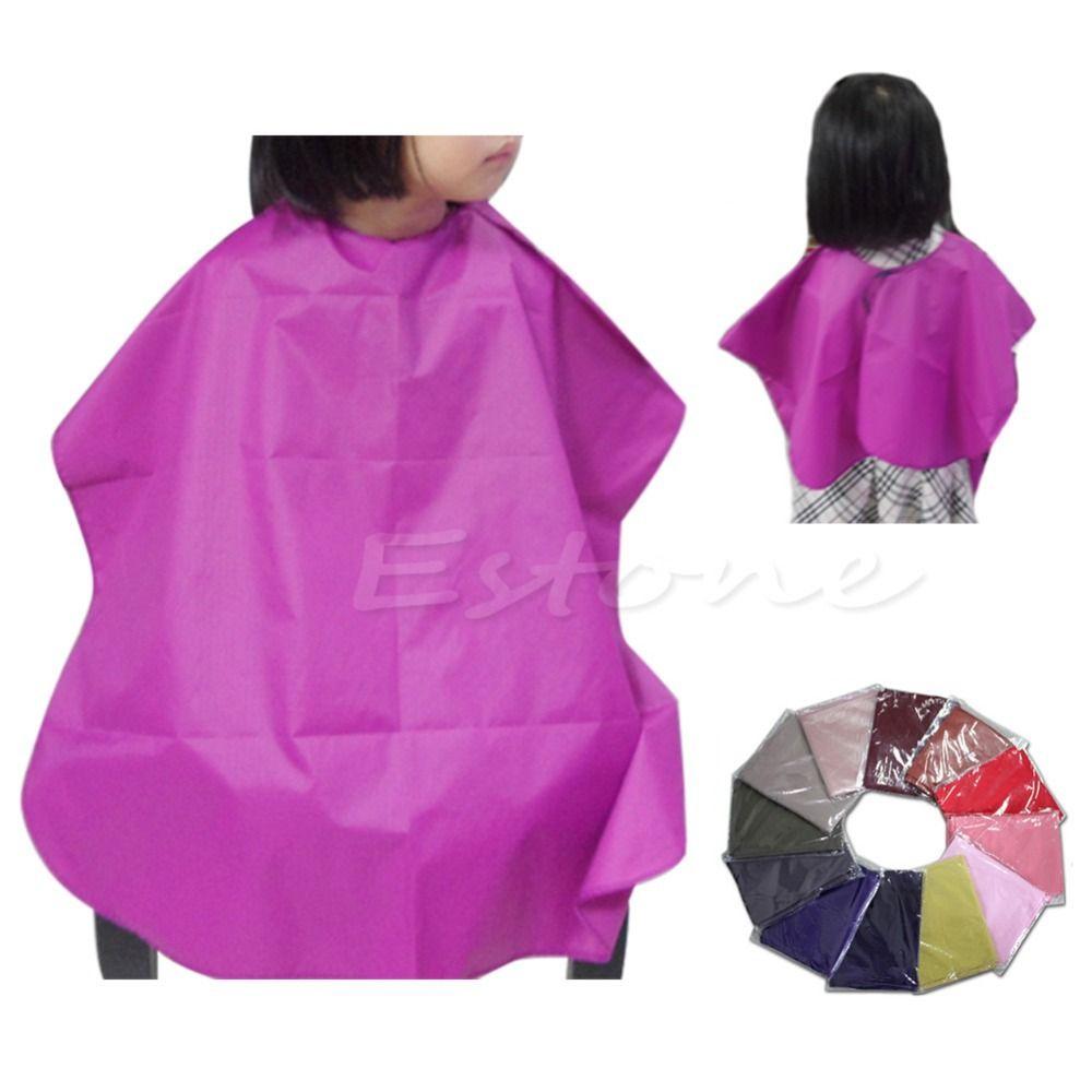 U119 무료 배송 어린이 살롱 방수 헤어 컷 미용 이발소 케이프 드레스 천 새로운 핫