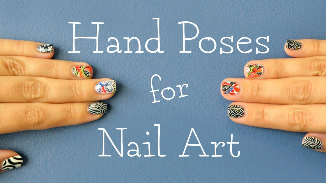 This tutorial shows the best hand positions to show off your nail art. Show us your best #nailfie!