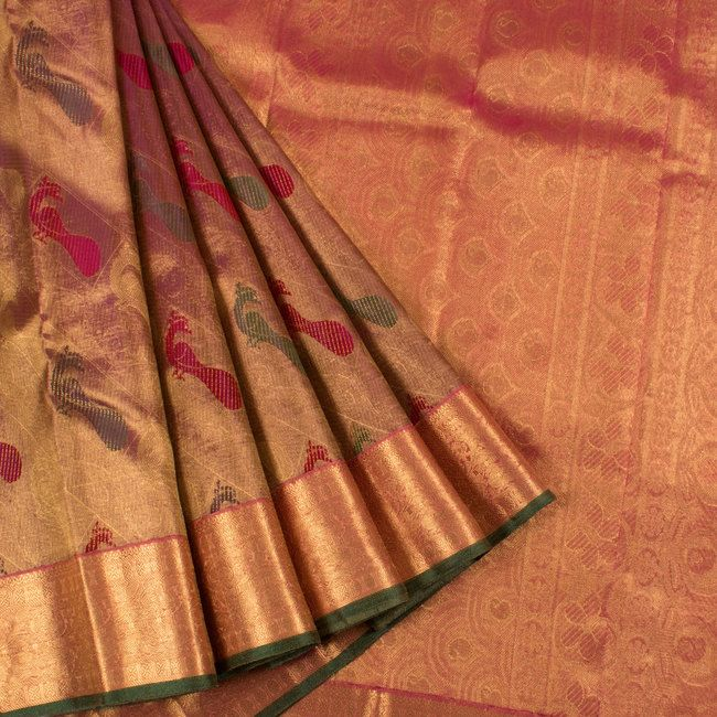 Exclusive Pure Handloom Pure Kanchipuram Silk Saree Designer Pure Handloom Pure Silk Saris on Sale