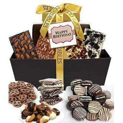 HAPPY BIRTHDAY Chocolate Gift Tower Sweet Finegifts Gifts Freeshipping