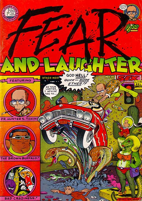 Fear and Laughter by William #Stout #underground #comics