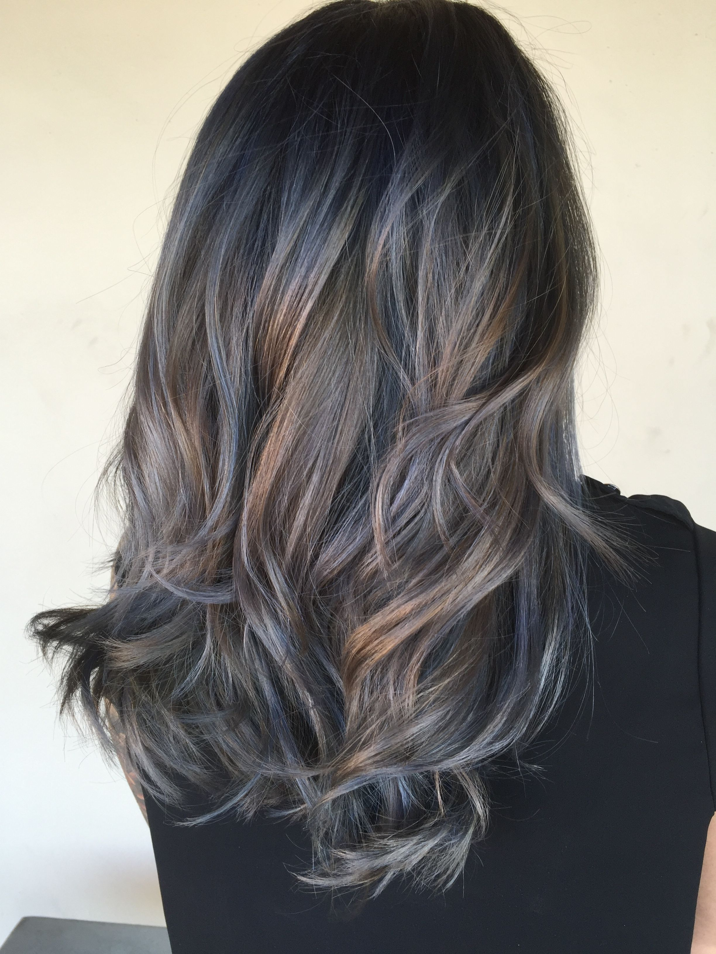 Denim hair color Beauty Pinterest Denim hair and Hair coloring
