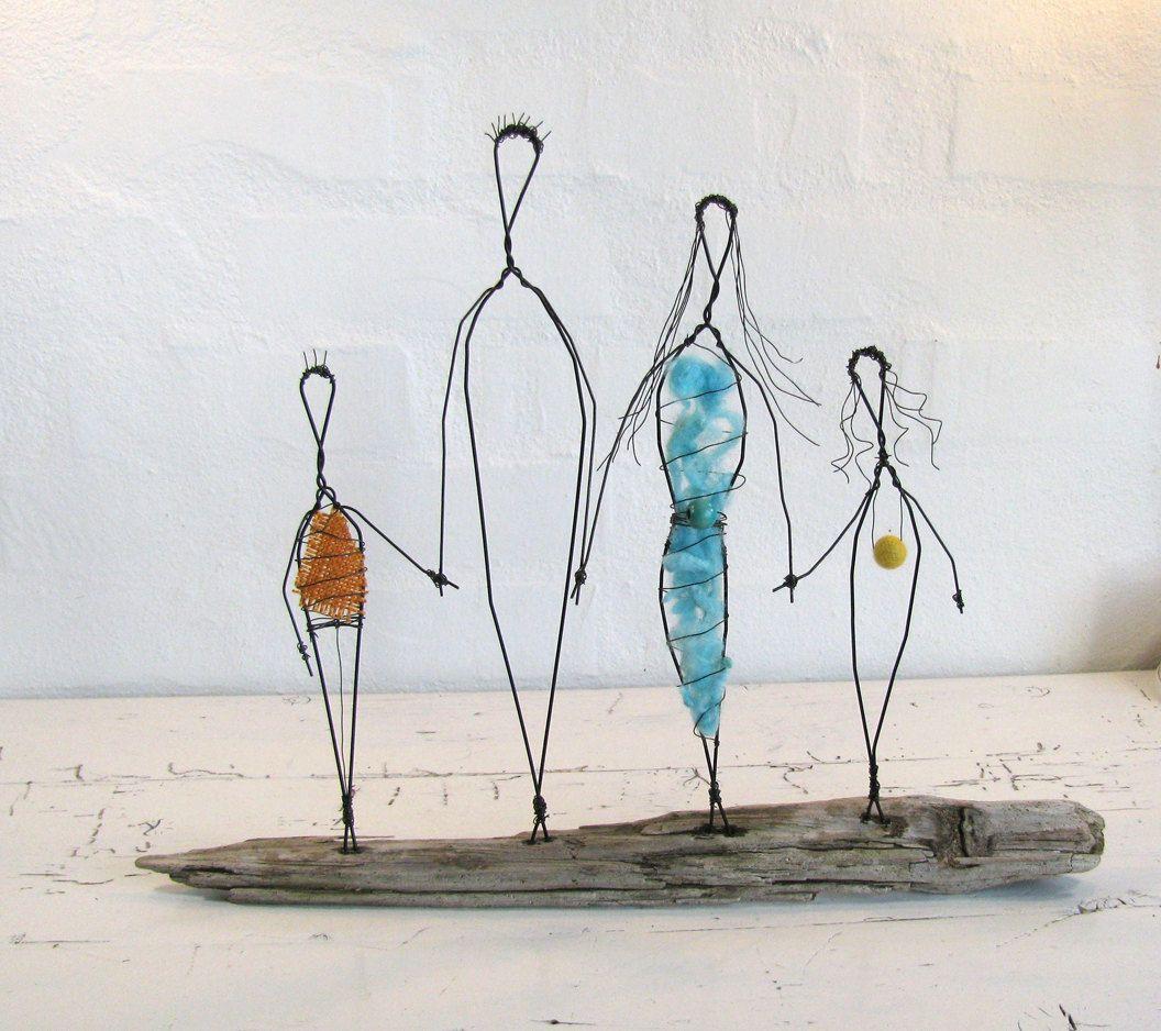 Wire Sculpture Family | crafty | Pinterest | Draht, Drahtfiguren und ...