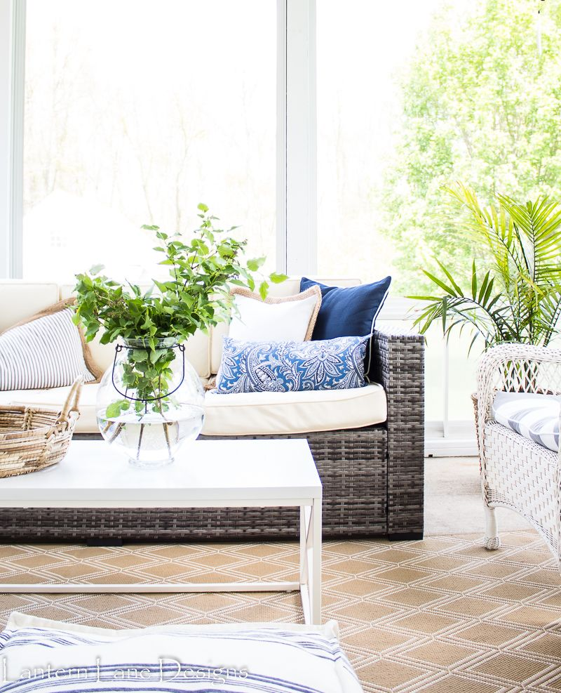 Outdoor Decorating Ideas Sunroom Makeover On A Budget