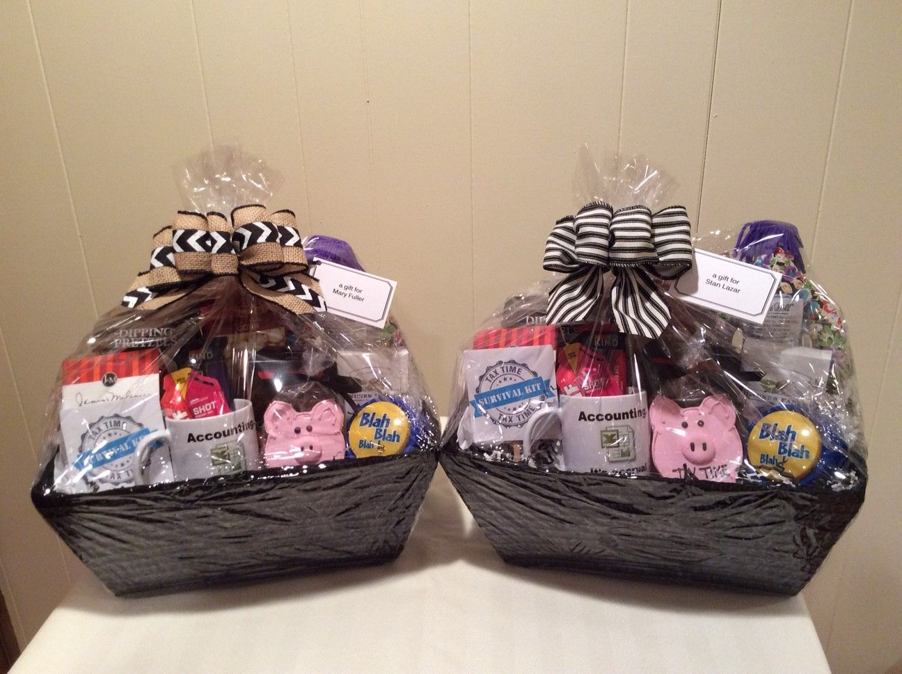 Tax Season Survival Gift Basket Custom Gift Baskets