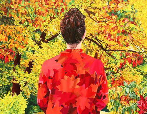 """""""Otoño"""" Oleo y acrílico sobre lino. 114 x 146 cm. 2016"""