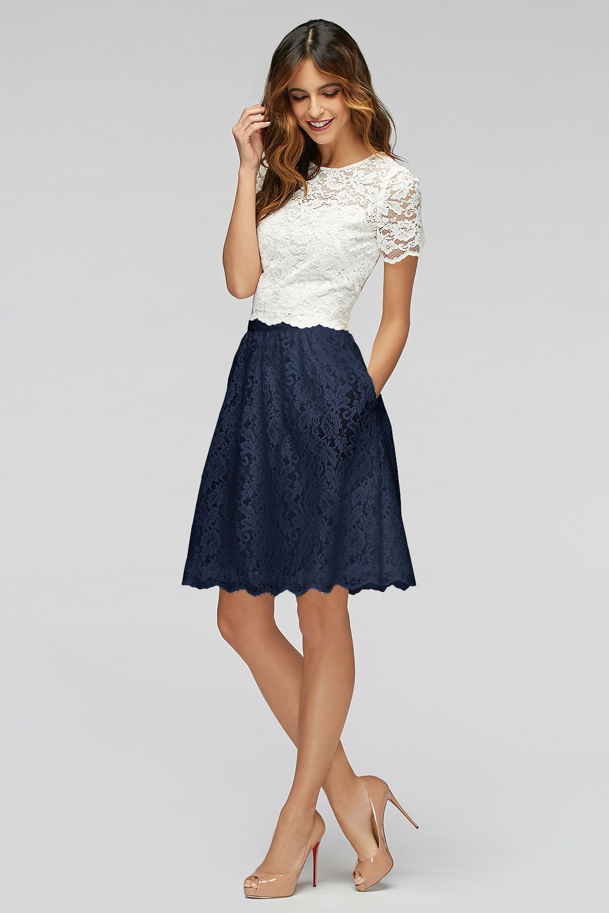 Hibiscus skirt bridesmaids watters this skirt with blue