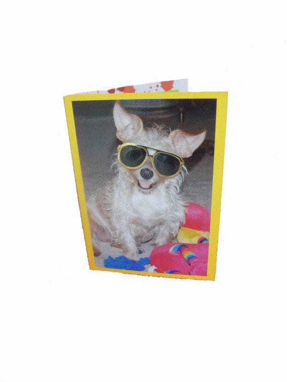 Blank Dog Greeting Card Funny Dog Card by Lillyzcardz on Etsy, $4.00