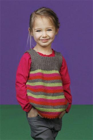 Kinder Pullunder stricken | Pullunder, Strickanleitungen und Stricken