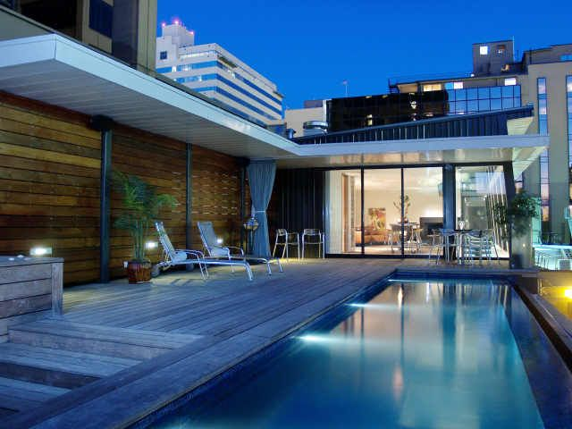 Austin Modern Home Urban Class And Style Roof Terrace Design