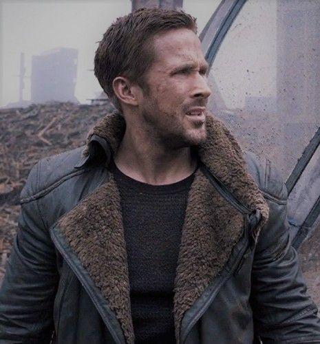 Men/'s Black Ryan Goshling Blade Runner 2049 Long Cotton Fur Trench Coat