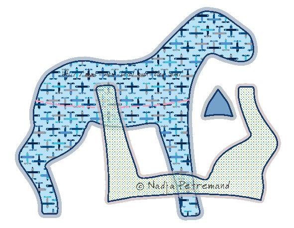patron couture doudou cheval