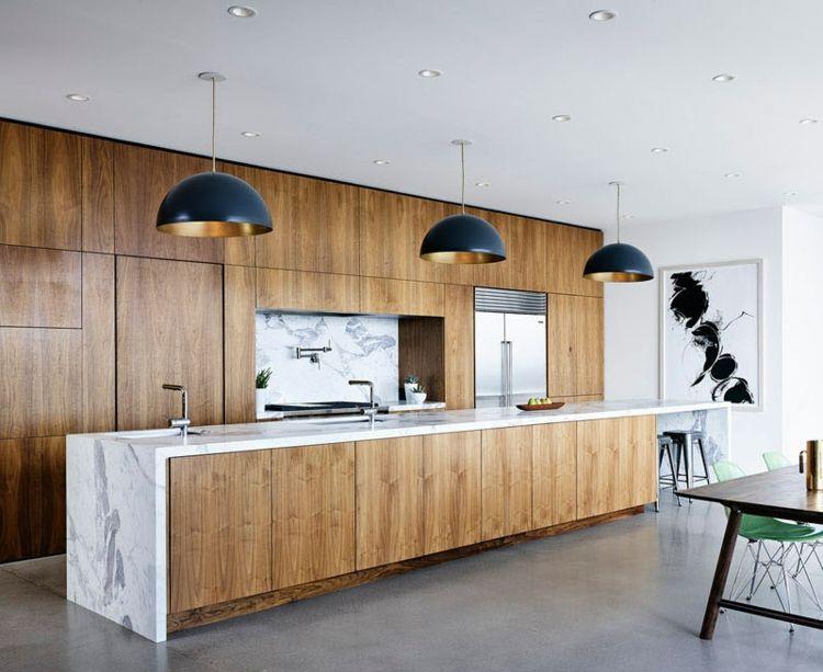 Naturstein In Der Kuche Moderne Optik Fur Arbeitsplatte Ruckwand Co Modern Marble Kitchen Kitchen Marble Home