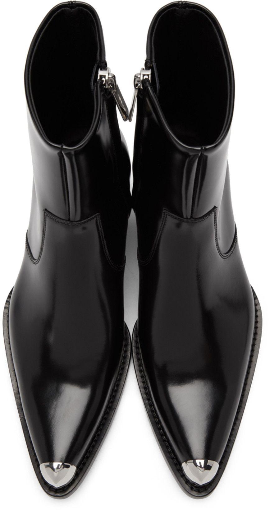 Calvin Klein 205w39nyc Black Tex C Bis Boots Zapatos Hombre Zapatos Elegantes Hombre Botas De Vestir Hombre